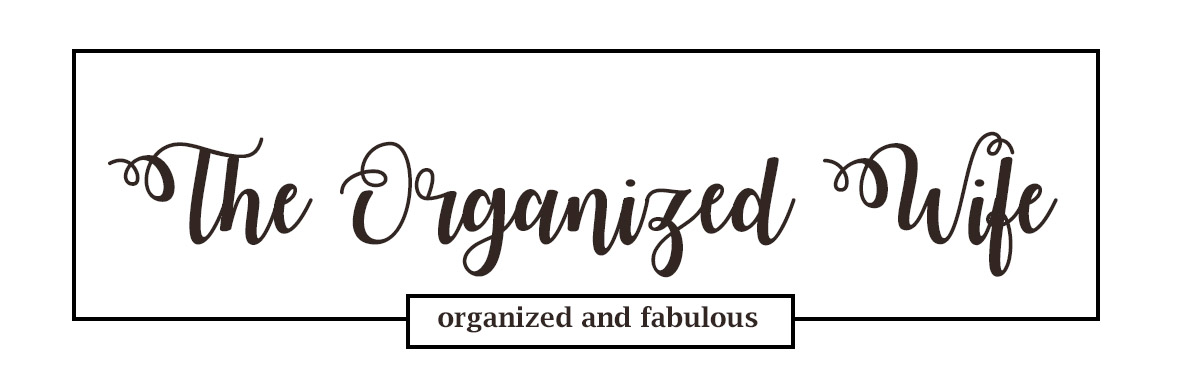 The Organized Wife